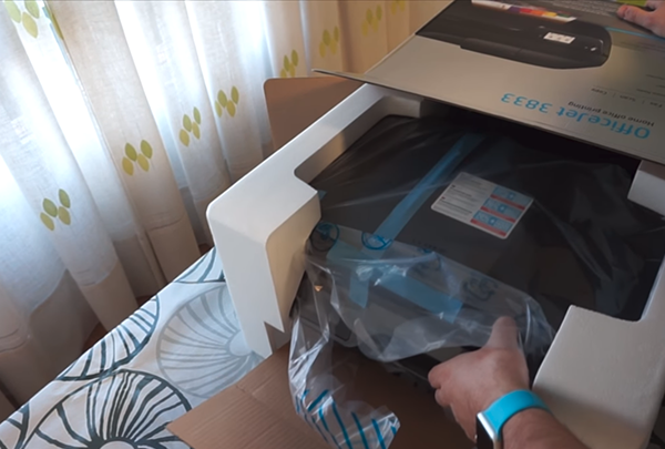 hp officejet 3833 unboxing setup