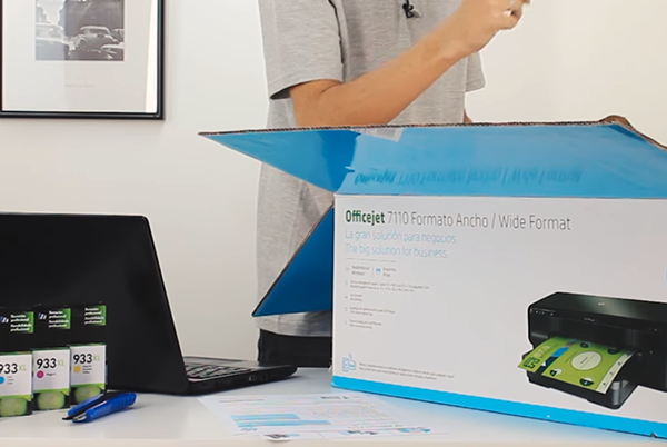 hp officejet 7110 unboxing setup