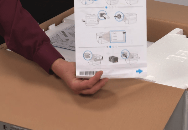 hp officejet pro 7740 unboxing setup