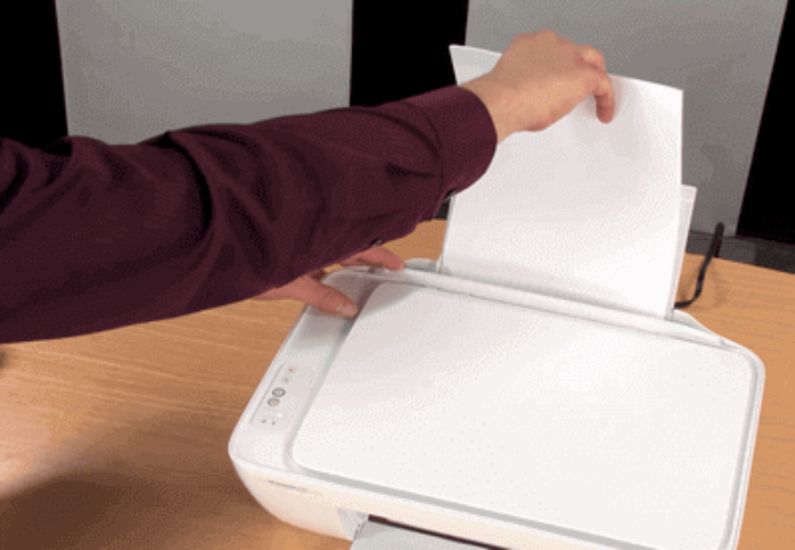 how to insert paper in hp deskjet 2131