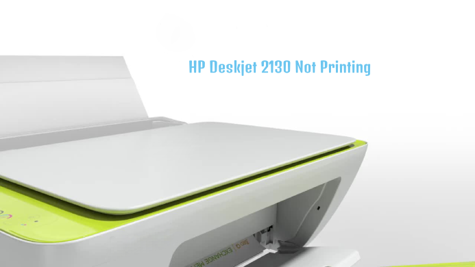hp deskjet 2130 not printing