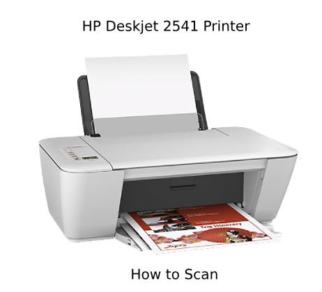 how to scan on hp deskjet 2541