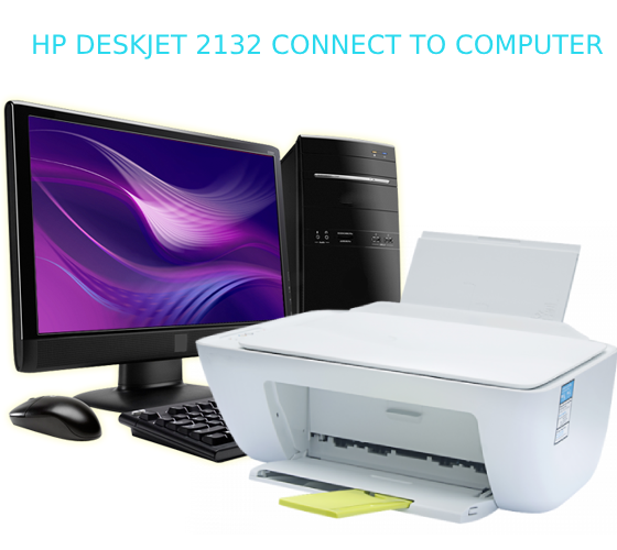 hp deskjet 2132 connect to computer