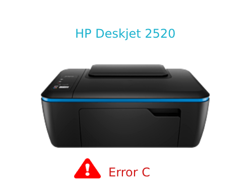 Solved] HP Deskjet 2520 Error C | Fix ink cartridge failure